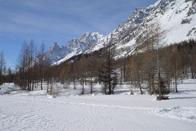 Sciare in Val Ferret